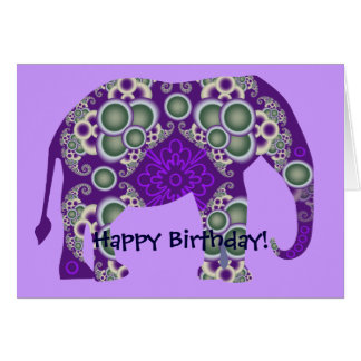 Elephant Birthday Cards & Invitations | Zazzle.co.uk