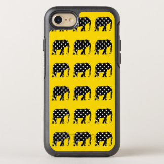 Elephant Black Silhouette Star Pattern Chic Modern OtterBox Symmetry iPhone 8/7 Case