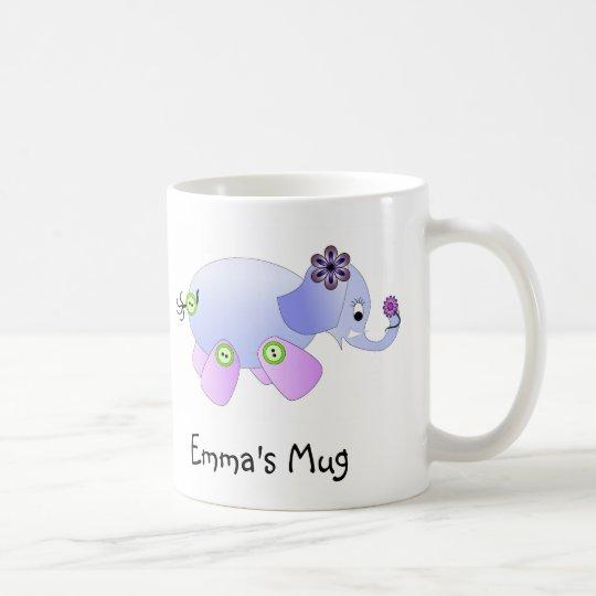 Elephant Blue Coffee Mug