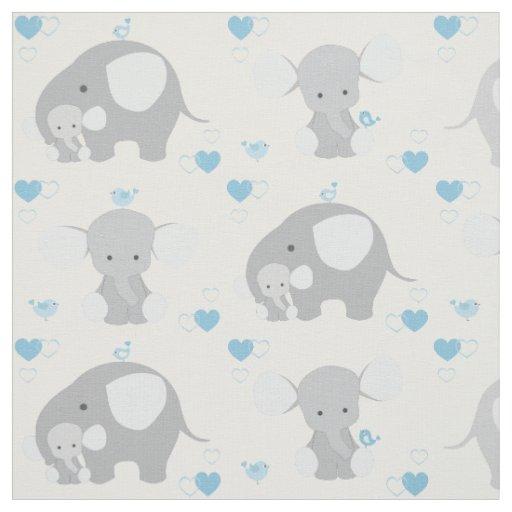 Elephant Blue Grey Safari Animals Nursery Baby Boy