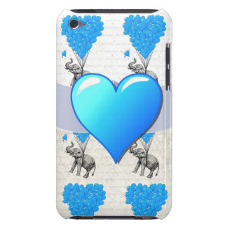 Elephant & blue heart balloons barely there iPod cover