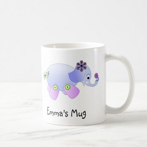 Elephant Blue Coffee Mugs