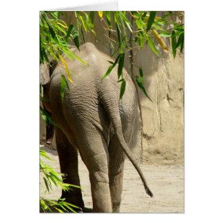 Elephant Booty Goodbye Card