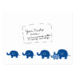 elephant-boy postcard