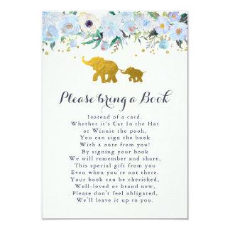 Elephant Bring A Book Card