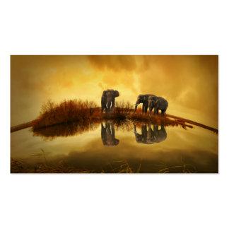 Elephant Business Card Template