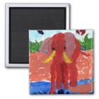 Elephant by the river magnet
