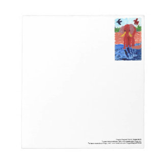 Elephant by the river notepad