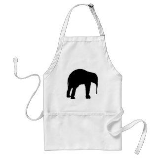 Elephant Calf Silhouette Standard Apron