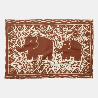 Elephant & Calf Tea Towel