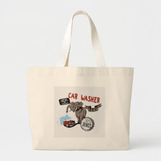 Elephant Car Washer - Funny New Invention Jumbo Tote Bag