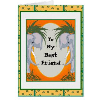ELEPHANT CARD 5X7 CARTOON GRETTING Card