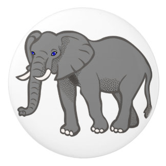 Elephant Ceramic Knobs