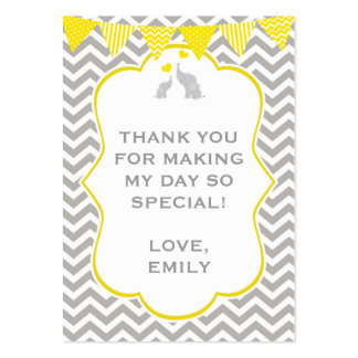 Elephant Chevron Baby Shower Gigf Favor Tag Label Pack Of Chubby Business Cards