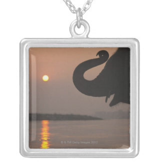 Elephant, Chitwan National Park, Nepal Silver Plated Necklace