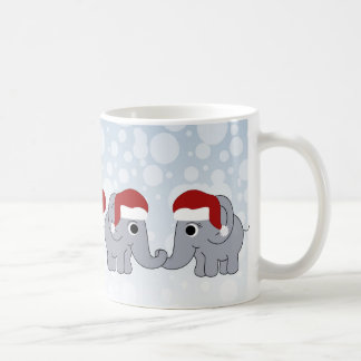 Elephant Christmas Basic White Mug
