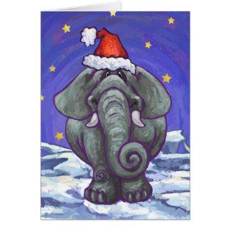 Elephant Christmas Card
