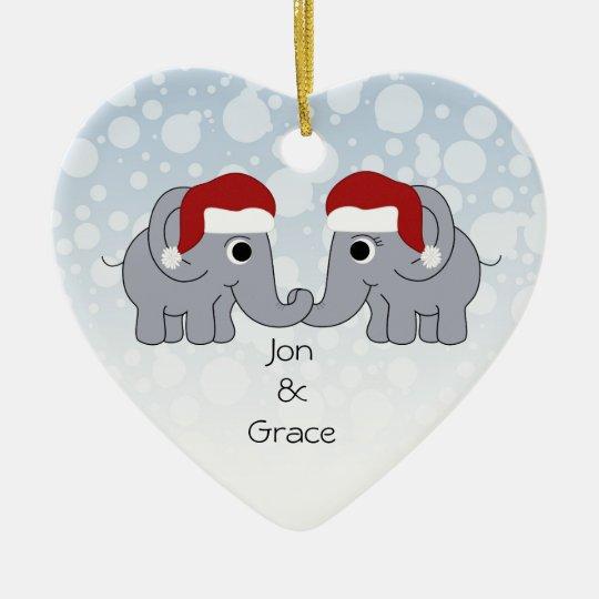 Elephant Christmas Christmas Ornament