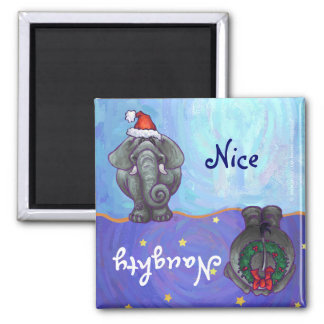 Elephant Christmas Fridge Magnet
