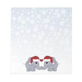 Elephant Christmas Notepads