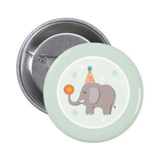 Elephant Circus Birthday Party 6 Cm Round Badge