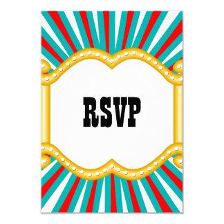 Elephant Circus Kids Boys Birthday Party RSVP 9 Cm X 13 Cm Invitation Card