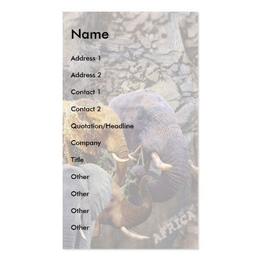 Elephant Collage Business Card