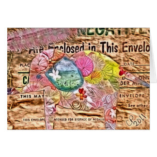 Elephant Collage Digital Art Greeting Card