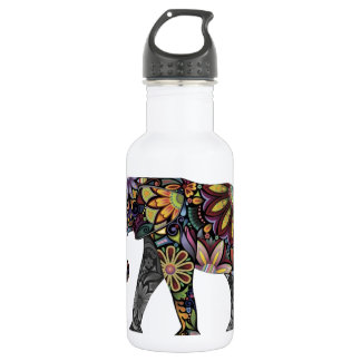 Elephant Colorful 532 Ml Water Bottle