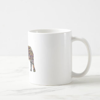 Elephant Colorful Coffee Mug