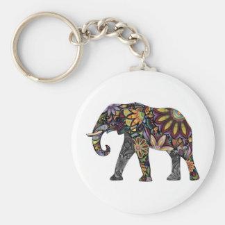 Elephant Colorful Key Ring