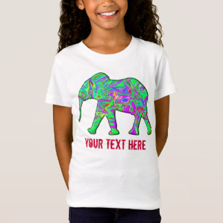 Elephant Colorful Pajamas Funny Kids Cool Template T-Shirt