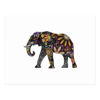Elephant Colorful Postcard