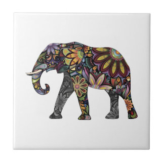Elephant Colorful Tile