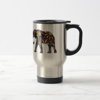 Elephant Colorful Travel Mug