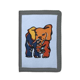 """Elephant Colorful"" TriFold Nylon Wallet"