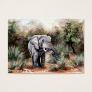 Elephant Coming Through Artcard Business Card