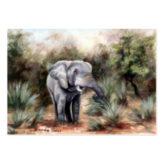 Elephant Coming Through Artcard Business Card Template