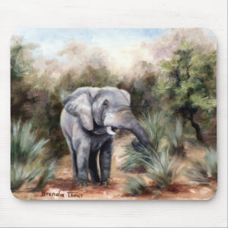 Elephant Coming Through Mousepad
