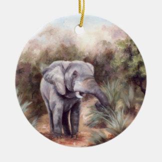 Elephant Coming Through Ornament
