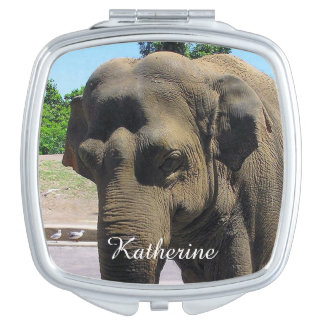 Elephant compact mirror