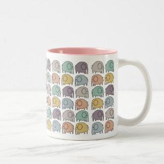 Elephant Cup Two-Tone Mug