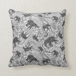 Elephant cushion (small) with paisley pattern