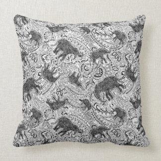 Elephant cushion with paisley pattern