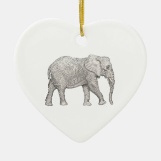 Elephant cut christmas ornament