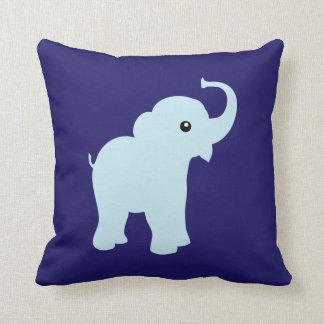 Elephant cute baby blue cushion, pillow