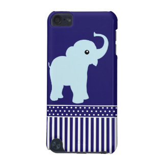 Elephant cute blue stripes ipod touch 4G case iPod Touch (5th Generation) Covers