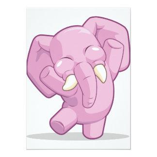 Elephant Dancing 14 Cm X 19 Cm Invitation Card