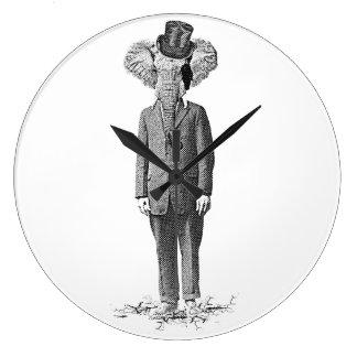 Elephant dandy large clock
