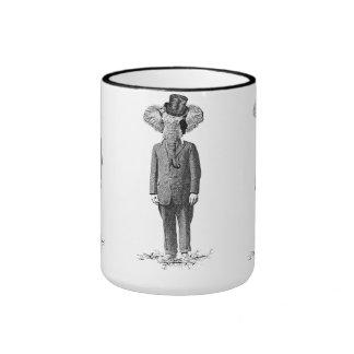 Elephant dandy ringer mug